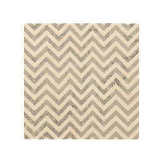 Elegant Silver Foil Zigzag Stripes Chevron Pattern Wood Wall Decor
