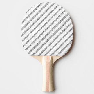 Elegant Silver Glitter Diagonal Stripes Pattern Ping Pong Paddle