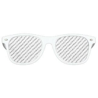 Elegant Silver Glitter Diagonal Stripes Pattern Retro Sunglasses