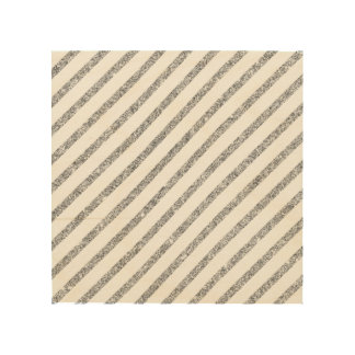 Elegant Silver Glitter Diagonal Stripes Pattern Wood Print