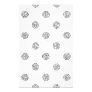 Elegant Silver Glitter Polka Dots Pattern 14 Cm X 21.5 Cm Flyer