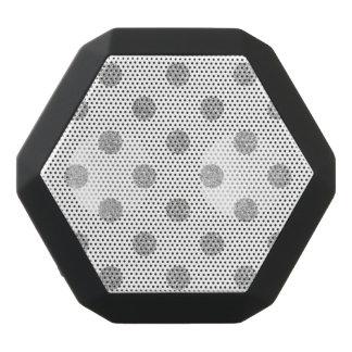 Elegant Silver Glitter Polka Dots Pattern Black Bluetooth Speaker