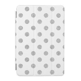 Elegant Silver Glitter Polka Dots Pattern iPad Mini Cover