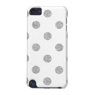 Elegant Silver Glitter Polka Dots Pattern iPod Touch 5G Case