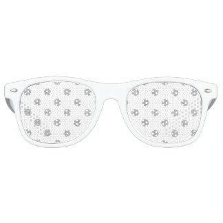 Elegant Silver Glitter Polka Dots Pattern Retro Sunglasses