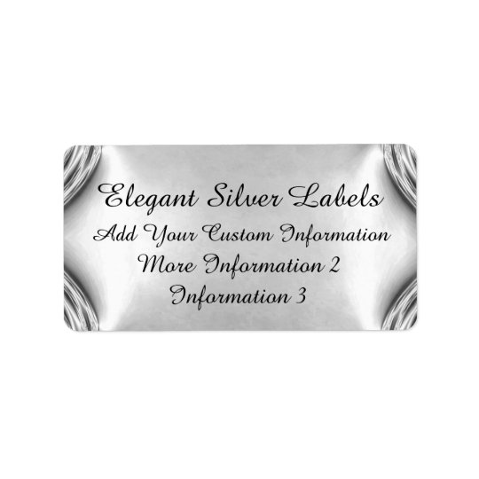 Elegant Silver Labels