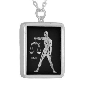 Elegant Silver Libra Scales Zodiac Locket