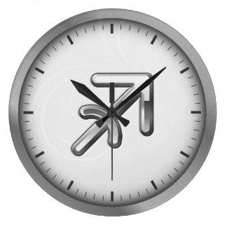 Elegant Silver Luxury Sagittarius Zodiac Symbol | Wallclocks