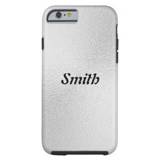 Elegant Silver Minimal Personalized Name Monogram Tough iPhone 6 Case