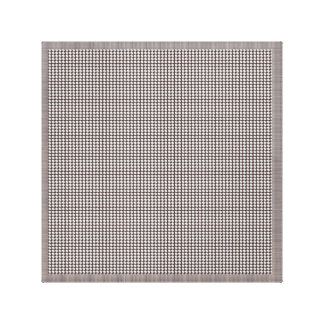 Elegant Silver Sparkle beads Border Abstract FUN Stretched Canvas Print