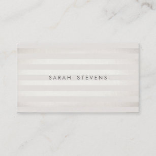Off white business cards zazzle au elegant silver thin off white striped salon spa business card reheart Choice Image