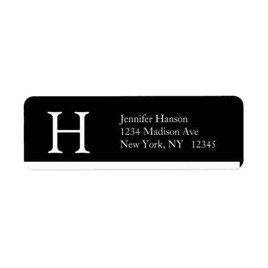Elegant Simple Address Labels Monogram H