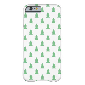 Elegant Simple Christmas tree pattern pastel green Barely There iPhone 6 Case