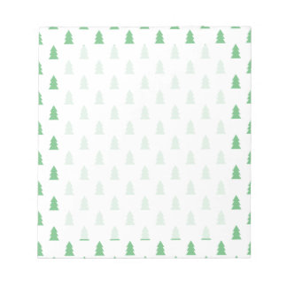 Elegant Simple Christmas tree pattern pastel green Notepad
