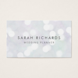 Elegant Simple Event Planner Bokeh Pattern Business Card