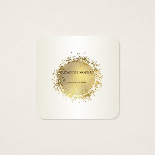 Elegant Simple  ,Faux Gold Square Business Card