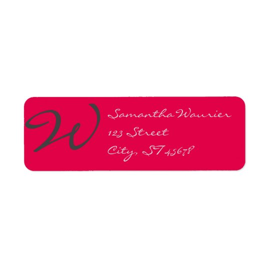elegant simple modern chic trendy monogram pink return address label