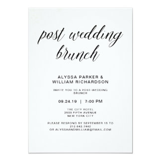 Elegant Simple Typography Post Wedding Brunch Card