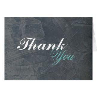 Elegant Slate Gray Stucco Blank Thank You 2.0 Card