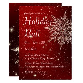 Elegant Snowflake Ball Card