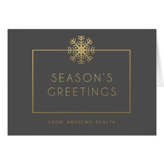 Elegant Snowflake Business Holiday Greeting Card