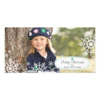 Elegant Snowflake Christmas Photo Card