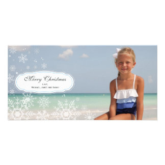 Elegant Snowflake Christmas Photo Card