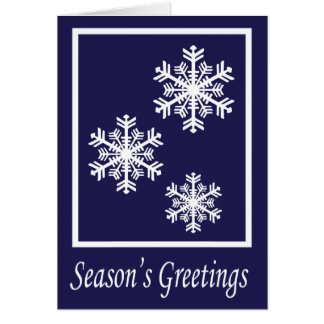 Elegant Snowflake Greeting Greeting Card