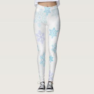 Elegant Snowflake Pattern Leggings