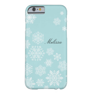 Elegant Snowflakes iPhone 6 case Barely There iPhone 6 Case