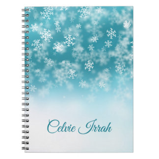 Elegant Snowflakes Personalized | Notebook