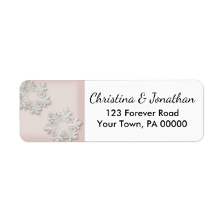 Elegant Snowflakes Winter Return Address Labels