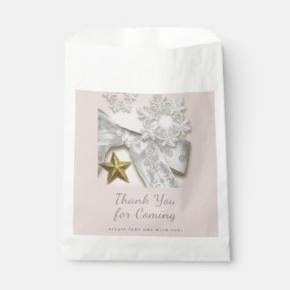 Elegant Snowflakes Winter Wedding Favour Bag