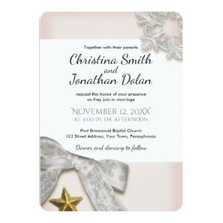 Elegant Snowflakes Winter Wedding Invitation