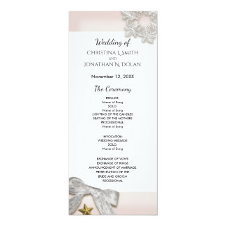 Elegant Snowflakes Winter Wedding Program