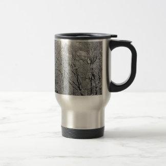 elegant snowy landscape stainless steel travel mug
