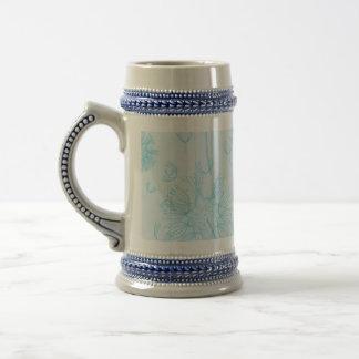 Elegant Soft Blue Dandelion Wedding Mug