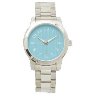 Elegant_Soft_Blue_White_Numbers Watch