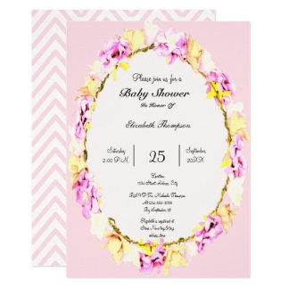 elegant soft flower floral Baby Shower card