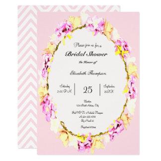 elegant soft flower floral Bridal Shower card