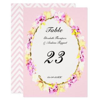 elegant soft flower floral Table Number Card