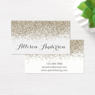 Elegant Soft Gold Glitter Business Cards