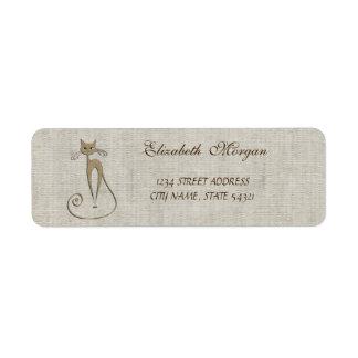 Elegant Sophisticated  ,Cat Address Label