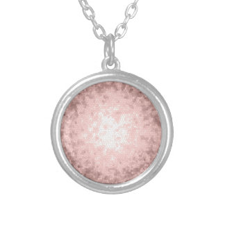 elegant sophisticated girly rose gold pattern silver plated necklace