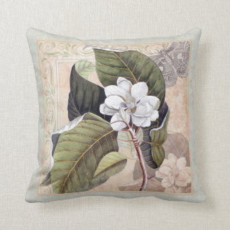 Elegant Southern Belle Magnolia Blossom Cushion
