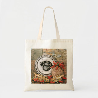 Elegant Southwestern Design Bag w/ lizard, chilis