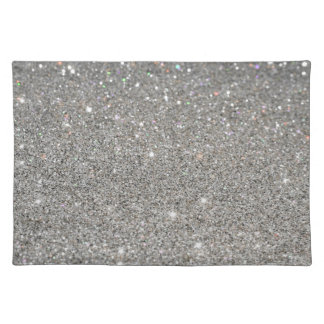 Elegant sparkles and glitter placemat