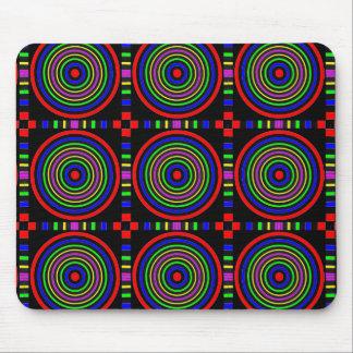Elegant Sparkling Circles : Energy at work Mouse Pad