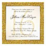 Elegant Sparkling Gold Sweet 16 Glitter Invite