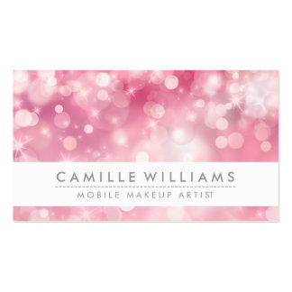 ELEGANT SPARKLY LIGHT whimsical pink red bokeh Pack Of Standard Business Cards